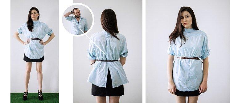 9dc4fad959d Как Носить Девушке Мужскую Рубашку Фото