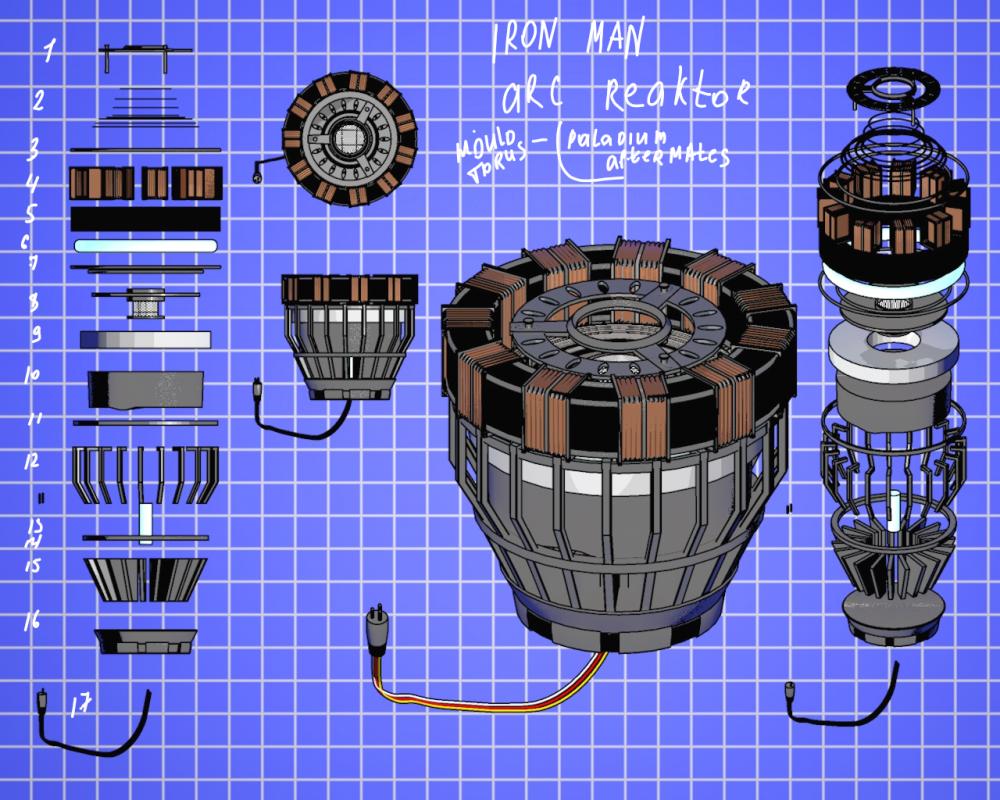 Как сделать железного человека реактор фото 626