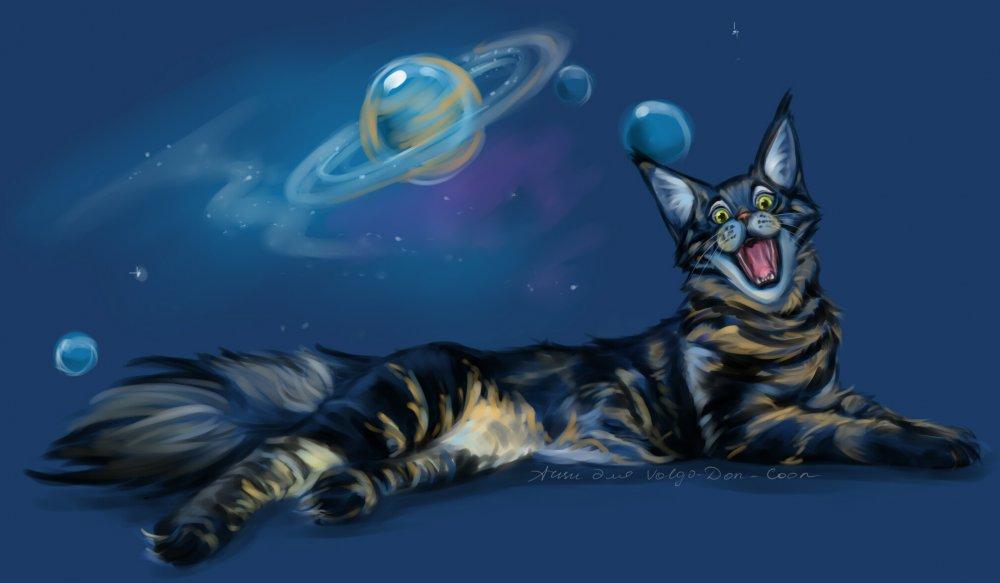 Коты нарисованные в саи