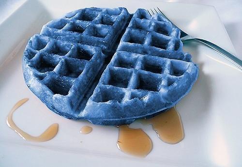 фото голубые вафли