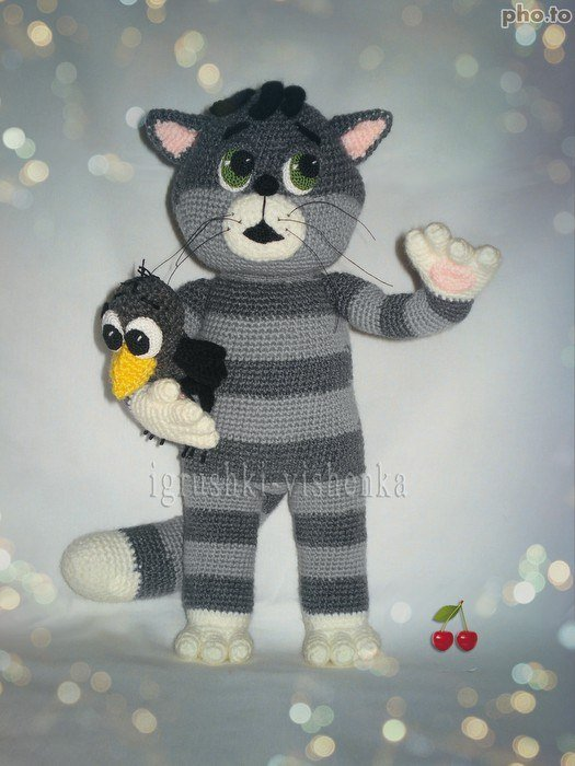 Схема вязания кота матроскина крючком