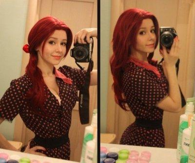 Картинки девушек с красным цветом волос