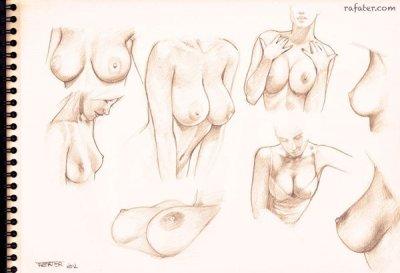 рисование голых девушек