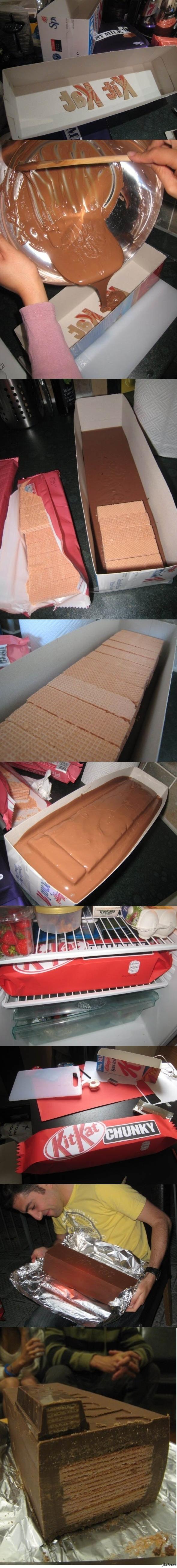 Гигантский KitKat своими руками :)