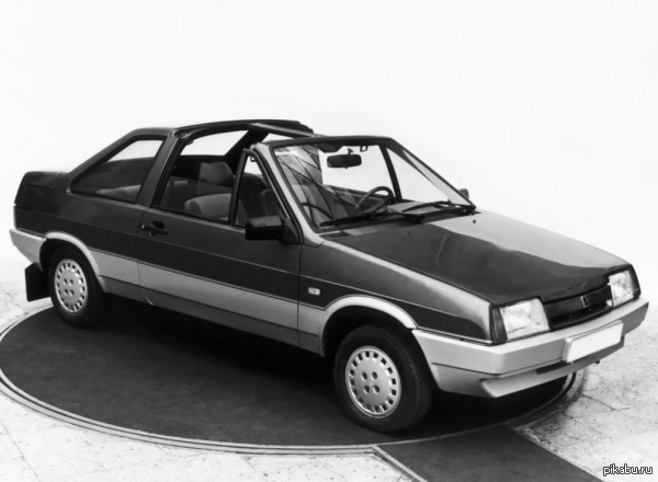 """ВАЗ 2108 """"Тарга"""" Прототип 1988 г. Опытный образец ВАЗ 2108 с кузовом """"тарга"""", изготовленный в 1988 году в Центре стиля ВАЗа.   Жалко, что не пустили в серию..."""