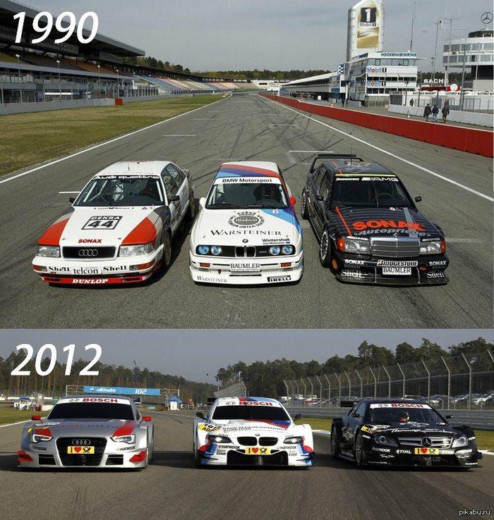 Эволюция машин DTM DTM (чемпионат немецких автопроизводителей) тогда и сейчас
