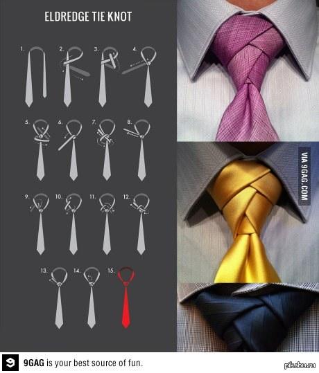 фото завязываем галстук