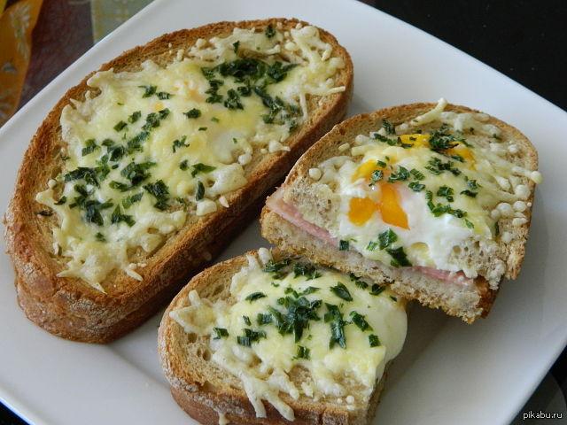 бутерброды перевертыши на сковороде