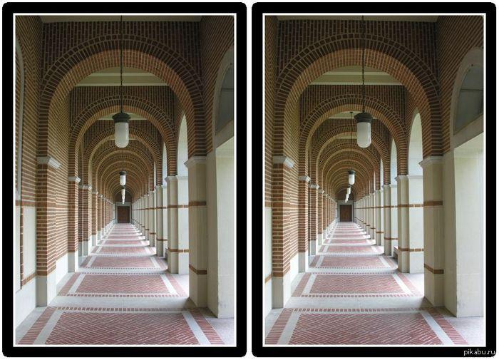 3D в домашних условиях Сводите глаза к носу, пока из двух изображений не получится три