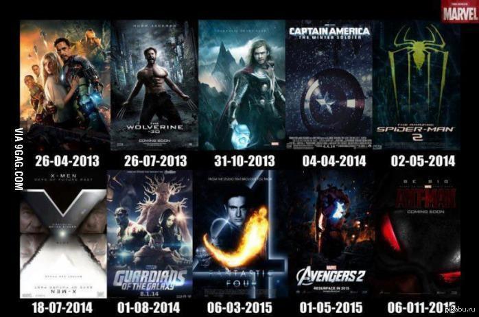 следующие 10 фильмов Marvel я готов а вы