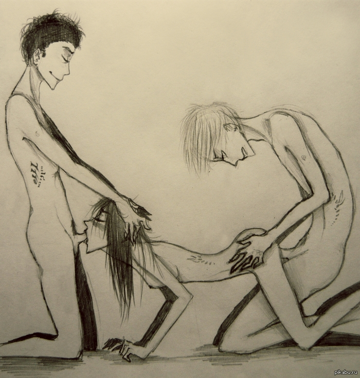 Секс женьщины и мужчины в рисунках