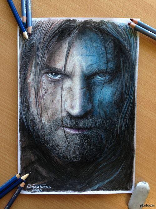 фото цветными карандашами рисунки