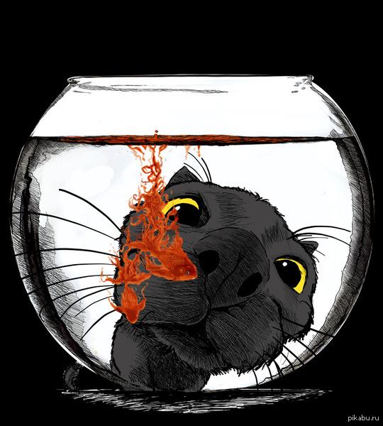Арт рисунок кота
