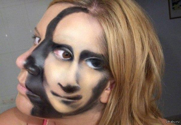 рисунки на лице фото