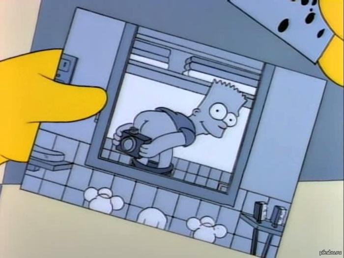 Барт Делал фото голым в зеркале до того, как это стало мейнстримом