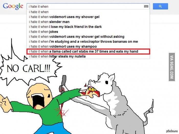 опасайтесь ламу по имени Карл похоже,пора сваливать с этой планеты ...