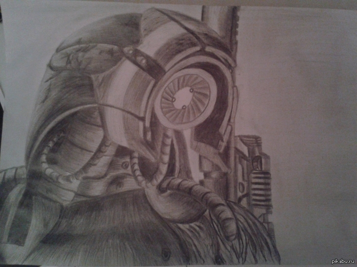 Мой рисуночек гета (карандаш, 3 часа) Я думаю, кроме меня тут немало людей которым нравятся синтетики  и все что с ними связано) Советы приветствуются)
