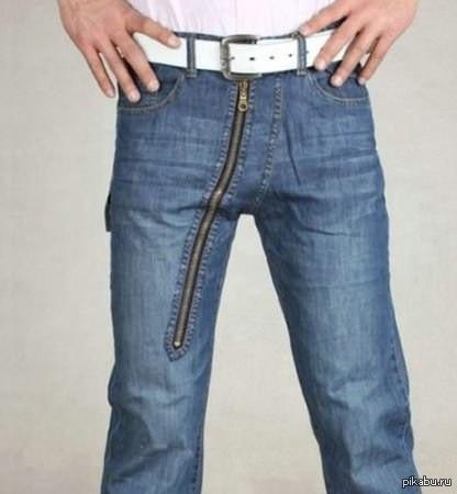 Член из джинсов
