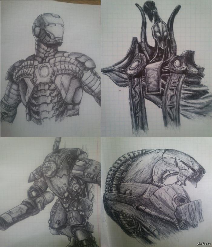 Мои работы, так сказать :3 Такие дела, что друзья не могут нормально критиковать мои рисунки и все что я рисую - круто. По этому я пришел искать критики на Пикабу. Аллоха С: