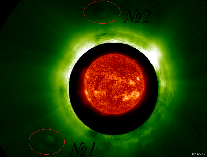 Солнечные сюрпризы 17го июня 2013 года в поле зрения спутника STEREO-B проявился объект размером с Юпитер. На сегодняшний день замечено 2 объекта.