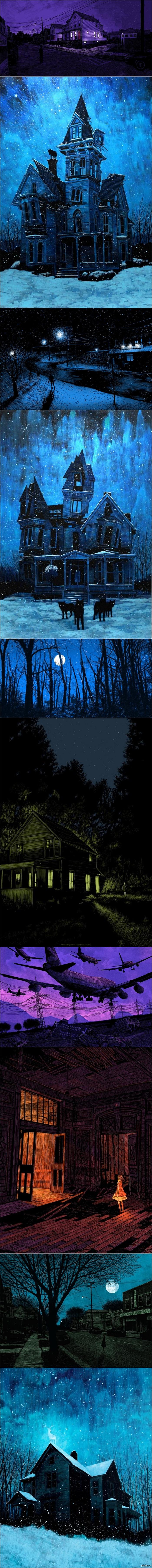 Ночное таинство от Daniel Danger. Для пикабу от BlueApple :)