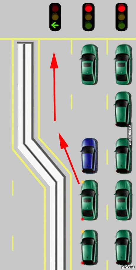 Для таких людей,как парень в синей машине,в аду припасено отдельное место