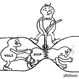 Ток, напряжение и сопротивление - наглядно и понятно. Для тех кто плохо разбирается что такое ток, напряжение и сопротивление :) Простая и понятная картинка. Почему у нас в учебниках такой не было.