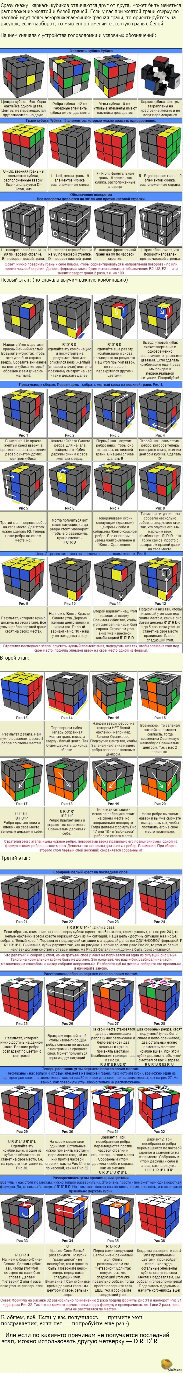 Схемы сборки кубика 7х7