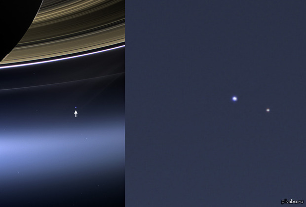 earth from saturn - 1211×600