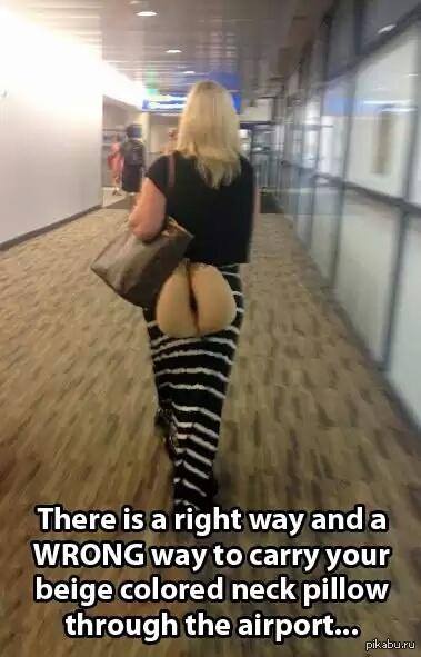 Ничего не напоминает? или как НЕ нужно носить подушку для шеи, в аэропорту.