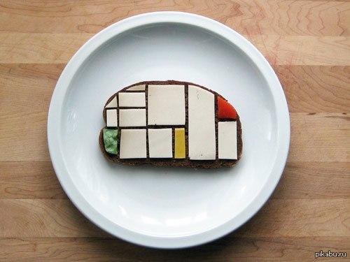Бутерброд как искусство Стырено на тумблере