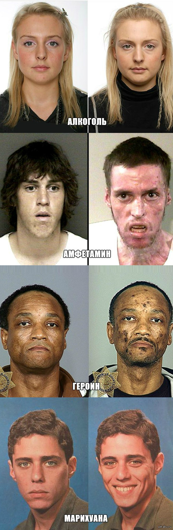 Фото до и после курения марихуаны как избавиться от зависимости курить марихуану