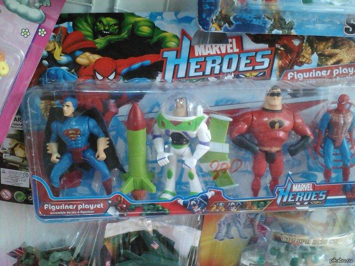 """Вот настоящий Марвел. А эти ваши """"Мстители"""" — говно. В честь своего первого подписчика выкладываю свой второй пост за год на Пикабу. А игрушку в магазине увидел."""