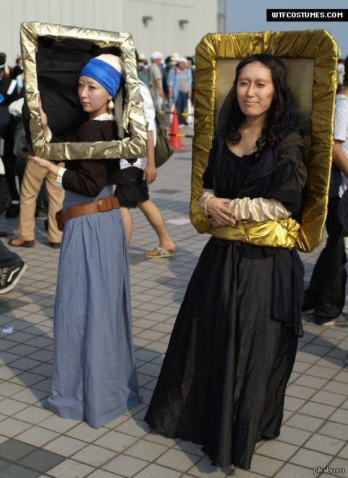 Интересный косплей Косплей на картины «Девушка с жемчужной серёжкой» и  «Портрет госпожи Лизы дель Джокондо»