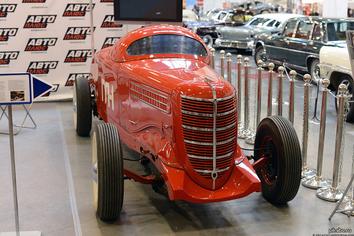 Первый советский гоночный автомобиль. ГАЗ-ГЛ-1, разработан в 1938 году, выпущен всего в двух экземплярах.