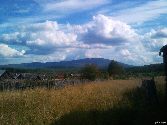 Гора Качканар. Свердловская обл. Посёлок Покап . Вид на гору Качканар с обратной стороны.