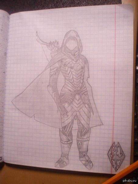 Skyrim. Соловьиная броня мой рисунок