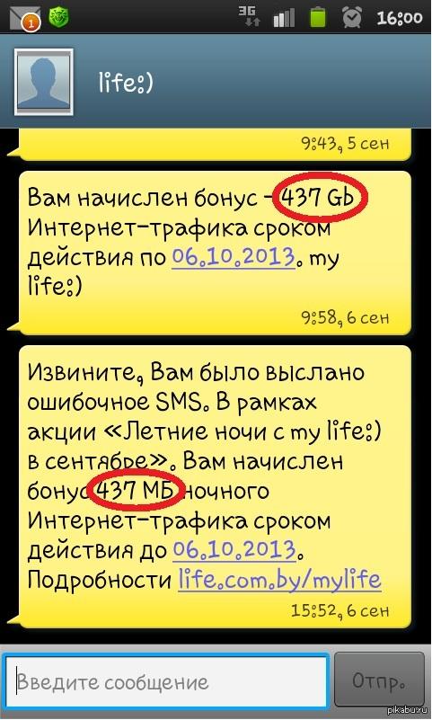 Белорусский оператор тролит Уж было подумал, что я сегодня победитель:(