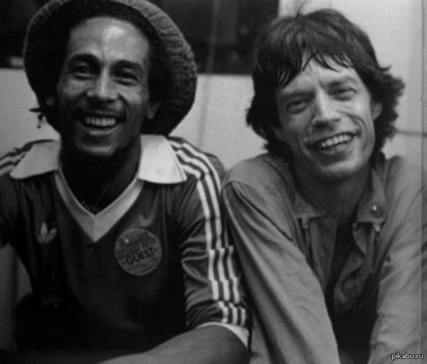 А по мне - это одно из самых крутых фото!) Боб Марли и Мик Джаггер. (в комментах небольшой сувенир:) )