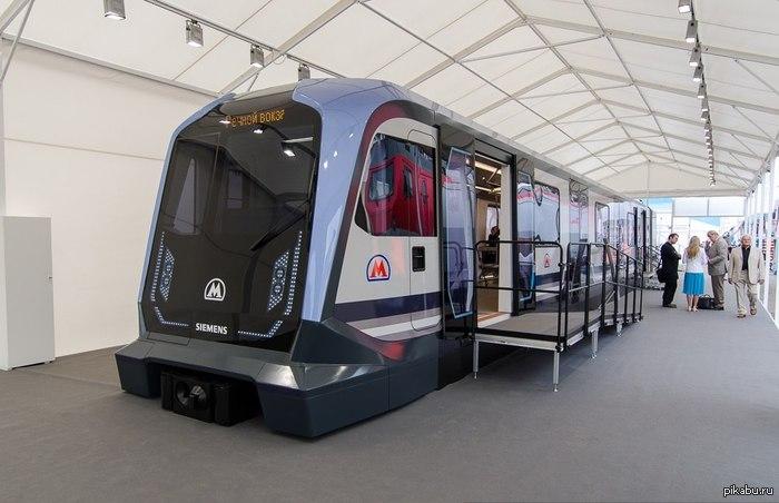 Новый вагон метро от Siemens для московской подземки Будем надеяться, что немецкая компания выиграет тенедер на поставку таких вагонов
