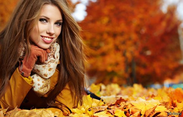 девушка осень картинки фото