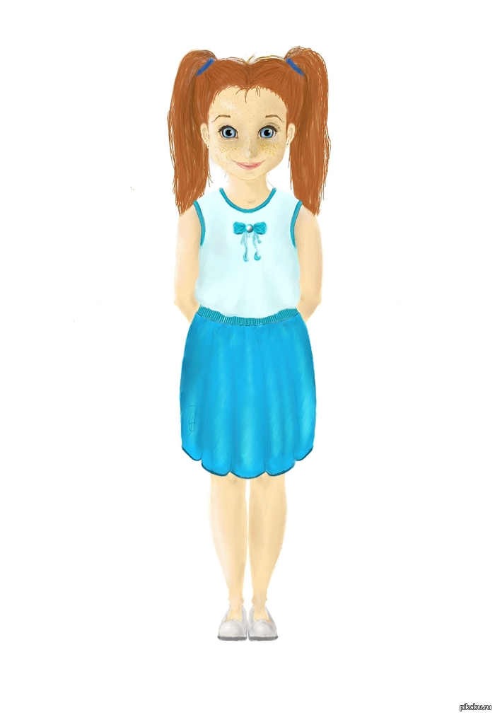 фото девочек рисунки
