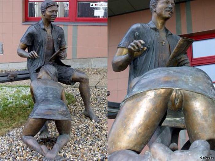 Эротическая скульптура сосет в праге