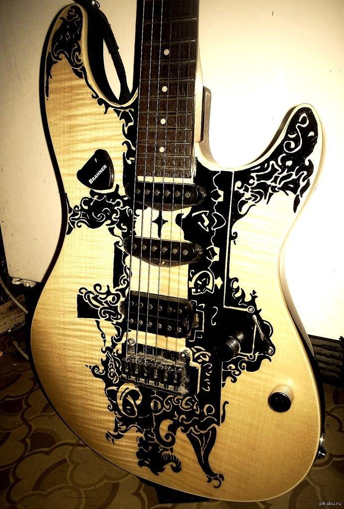 рисунки на гитаре фото