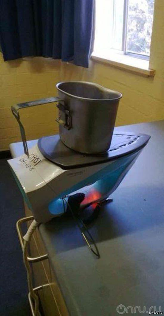 Смекалка Инструкция как разогреть воду имею только кружку и утюг