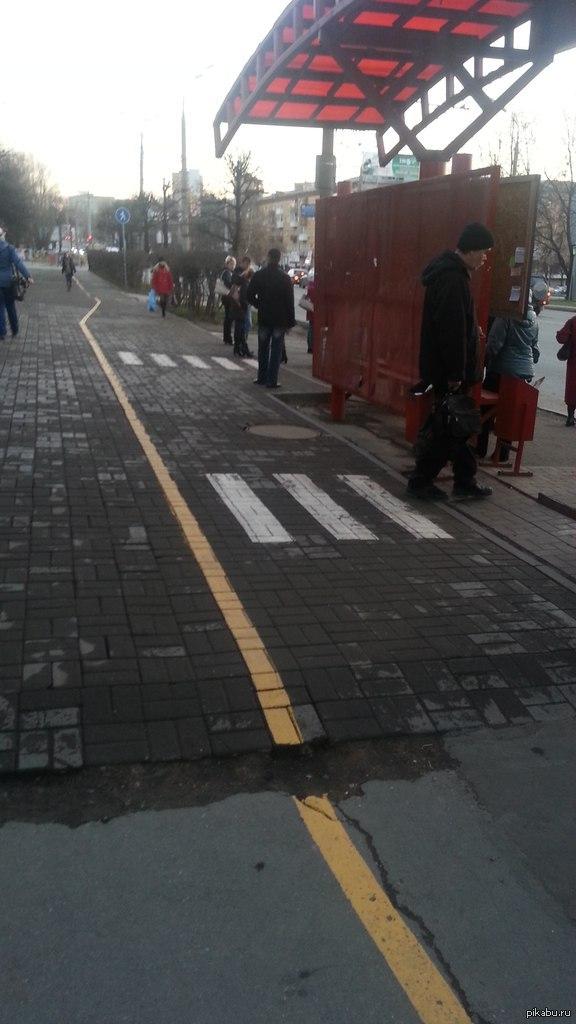 Велосипедисты, будьте внимательны, пропускайте пешеходов