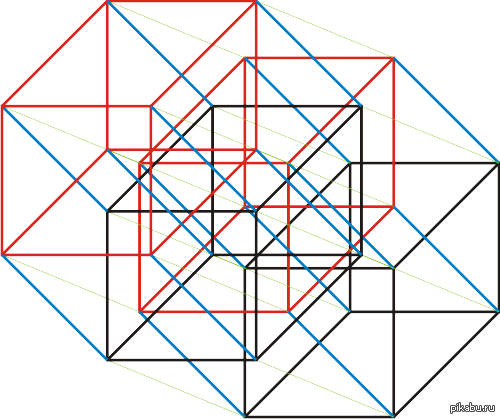 Пентеракт (5-мерный куб) Кажется не таким сложным, если взглянуть на 6-мерный (в комментах)