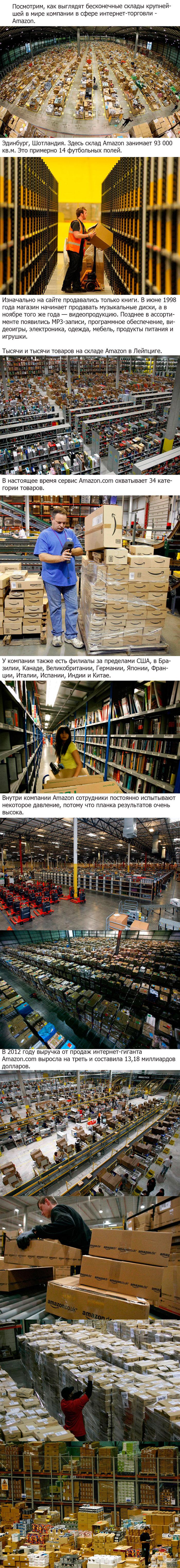 Крупнейшая в мире компания в сфере интернет-торговли Amazon — американская компания, крупнейшая в мире по обороту среди продающих товары и услуги через Интернет. Компания Amazon.com была создана в 1994 году.