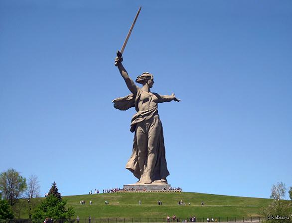 """Минутка эрудиции Памятник """"Родина-мать зовет"""" в Волгограде - самое большое изваяние в мире, не посвященное объекту религиозного поклонения."""
