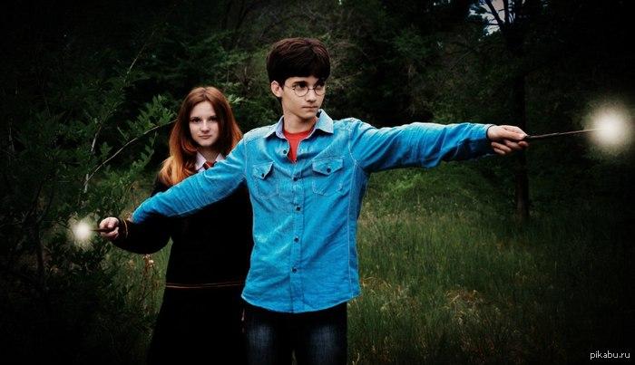Отличный косплей! Harry Potter and Jinny Weasley